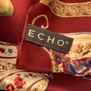 """ECHO""  Smithsonian Institution 1999- Silk scarf"